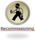 hvac page- recommissioning button