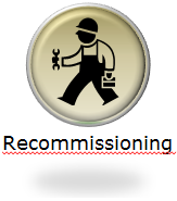 refrigeration solutions- recommissioning button